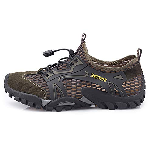 Leobtain Men Women Hiking Water Safety Shoes Running Basketball Badminton Shoes Quick Drying Lightweight Mesh Breathable Jogging Trail Outdoor Non-Slip Sneakers