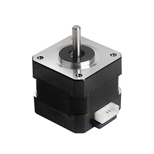 Aibecy Piezas de la impresora 3D 42-40 Motor paso a paso 2 fases 1.8 grados Ángulo de paso 0.4N.M 1A Motor paso a paso (17HS4401) para Creality CR-10 CR-10S Ender 3 Impresora 3D