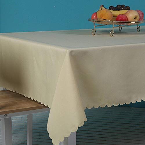 Haoxp multifunctionele tafelkleden, festivals, feesten, alle soorten plaatsen kunnen worden gebruikt, waterdicht en anti-hete thee tafelkleed, beige 130 x 180 cm