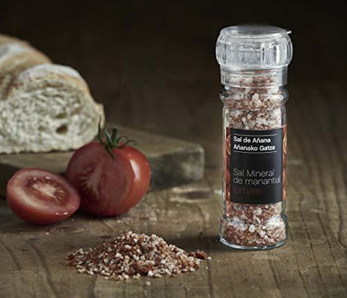 Molinillo Sal Mineral de Manantial con Tomate, 75 gr. SAL DE AÑANA