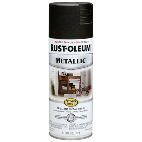 Rust-Oleum 248636 11-Ounce Finish, Oil Rubbed Bronze Stops Rust Metallic Spray Paint, 11 oz