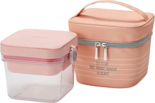 サーモス (THERMOS) 弁当箱 ピンク 本体容器満水/950ml 保冷サラダコンテナー DJR-950 P