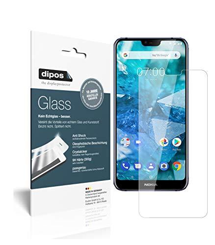 dipos I 2X Pellicola Protettiva Compatibile con Nokia 7.1 Plus Protezione Vetro Flessibile 9H