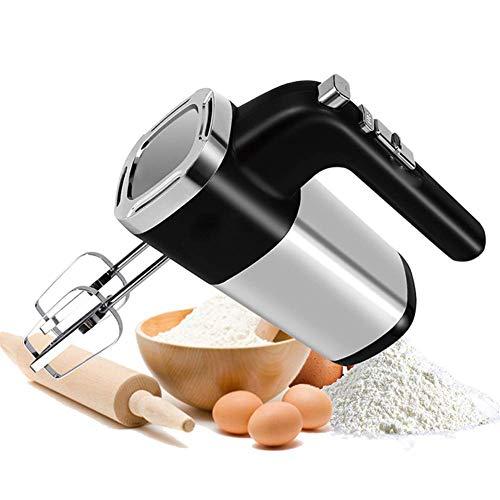 Mezclador de mano de velocidad eléctrica, 5 velocidades 500W Alta potencia eléctrica mezcladora eléctrica Mano de la mezcla de mezcla de masa batidor de huevo mezclador de la mano for batir, masa y má