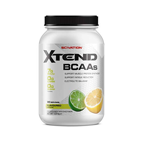 XTEND Original BCAA Powder Lemon Lime | Branched Chain Amino Acids Supplement | 7g BCAAs + Electrolytes for Recovery & Hydration | 90 Servings | Packaging May Vary