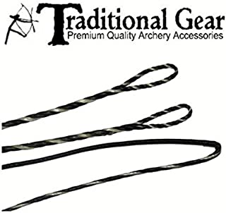 Flemish FASTFLIGHT Longbow Replacement Bowstring (Small Loops) - Bow String - Actual String Length - by Traditional Gear Archery Products (Multiple Sizes)