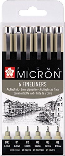 Pigma Micron XSDK-6 - Rotulador de punta fina negro (trazo extra fino)