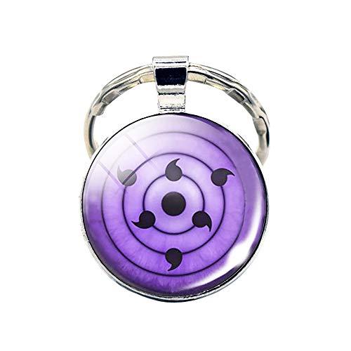 Sharingan Rinnegan Pendant Keychain Key Ring - Metal (0.7 oz) (Rinnegan)