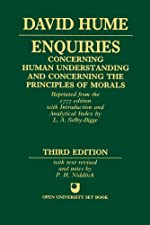 Enquiries concerning Human Understanding and concerning the Principles of Morals de David Hume