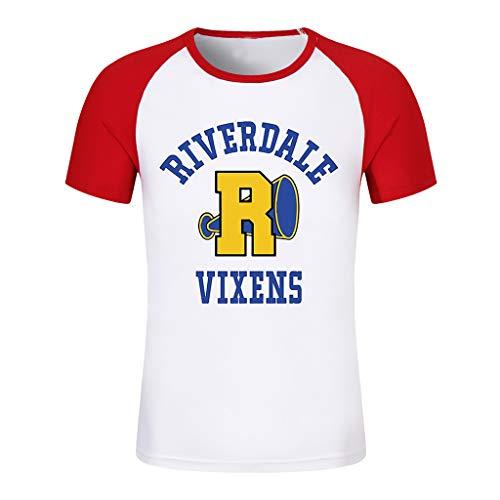 Riverdale T-Shirt Donna Ragazza Magliette Estate Camicia a Manica Corta Riverdale Southside Serpents Elegante Camicetta Pullover Casuale Hip Pop Tee Top Maglia (9,S)