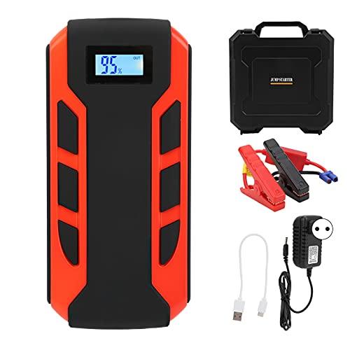 Arrancador multifunción para automóvil, Aramox 20000mAh USB Power Battery Booster Pantalla digital Banco de energía de emergencia portátil para camionetas de 12 V, ATV, camionetas(EU Plug)