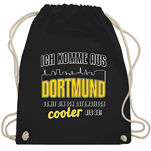 Städte - Ich komme aus Dortmund - Unisize - Schwarz - dortmund tasche - WM110 - Turnbeutel und Stoffbeutel aus Baumwolle