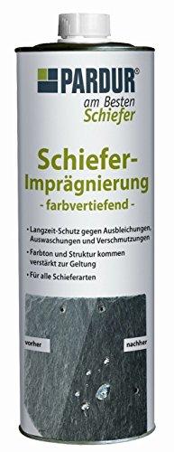 'PARDUR Schiefer - Imprägnierung farbvertiefend Schieferöl Schieferschutz 1 Liter'
