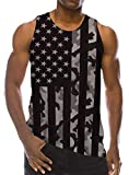Goodstoworld 4 July Tank Tops for Men Guys Funny Graphic Tees Mens Sleeveless Workout Patriotic Shirt Teen Boy Sleeveless Camping Shirt,Camouflage Flag
