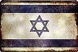 Länder Fahne Nationen National Flag Flagge Deko Blechschilder Wandschild Türschild (20 x 30 cm, Israel 1443)