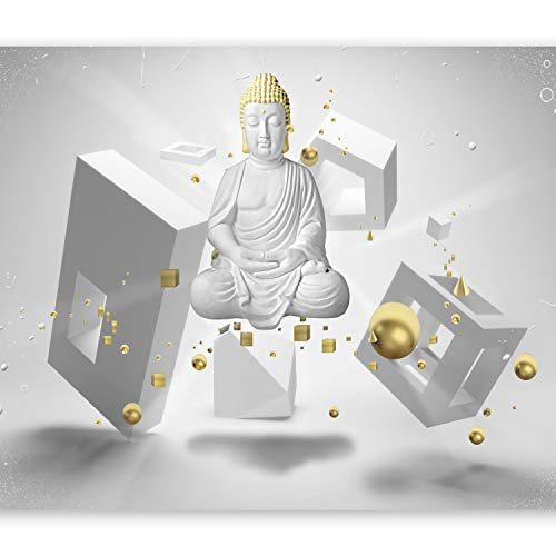 murando Papier peint intissé 200x140 cm Décoration Murale XXL Poster Tableaux Muraux Tapisserie Photo Trompe l'oeil Bouddha 3d optique h-A-0009-a-a
