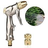 Haplws Haushaltslegierung Autowaschpistole Hochdruck-Wassersprühwerkzeug mit Anschluss Autowaschwasserdüse Gartenwasserwerkzeug