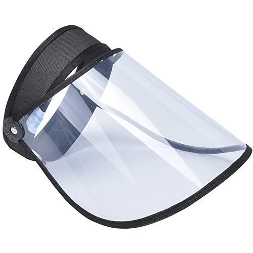 Visiere Cappello da Baseball Antiappannamento Antivento Cappuccio Protettivo Anti-sputo Protezione Facciale con Visiera Rimovibile Protezione UV Visiera Protettiva Trasparente for Uomo Donna