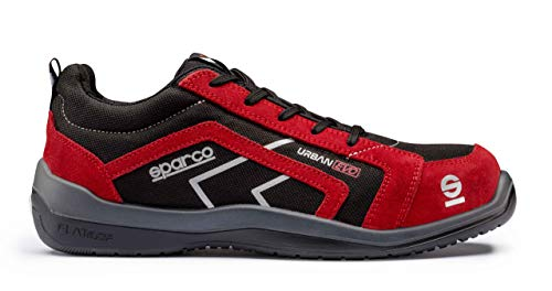 Sparco 0751844NRRS Zapatillas, Negro/Rojo, 44 EU