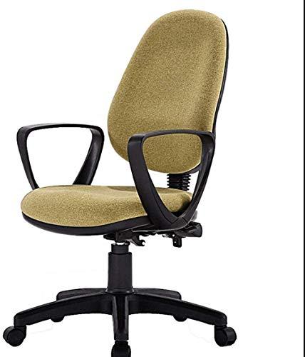 Sillas de Oficina Las sillas de Escritorio, Silla de Oficina de tareas de Oficina Silla ergonómica del Ordenador de Espalda Baja Escritorio Sillón Ruedas giratorias (Color : Green)