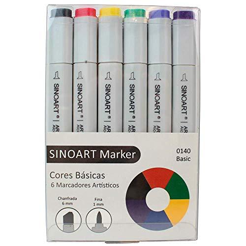 Sinoart Marcador Artístico Marker, 6 Tons Básicos