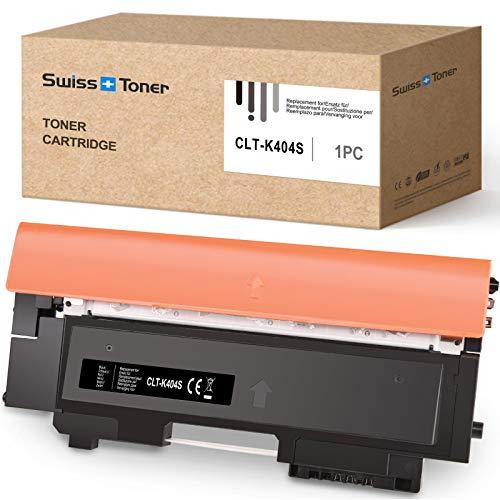 SWISS TONER Ersatz zu Samsung CLT-P404C CLT-K404S Tonerkartusche für Samsung Xpress C480 C480W C480FN C480FW C430 C430W Drucker,Schwarz