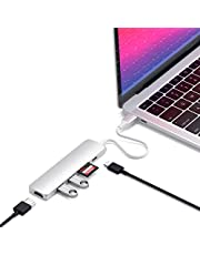 Satechi Slim Aluminum Type-C Multi-Port Adapter V2 with USB-C PD, 4K HDMI (60Hz), Micro/SD Card Readers, USB 3.0 - Compatible with 2020 MacBook Pro, 2020 iPad Pro (Silver)
