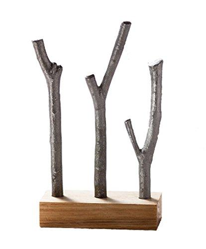 イシガキ産業 鉄小枝 天然木スタンド付き ブラック 縦88×横40×高さ145mm 手軽に鉄分補給 料理の艶出し 3941