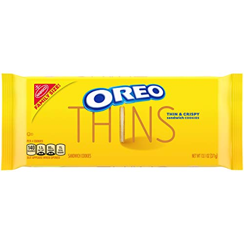 Oreo Thins Golden Sandwich Cookies Family Size, 13.1 Oz, 1Count