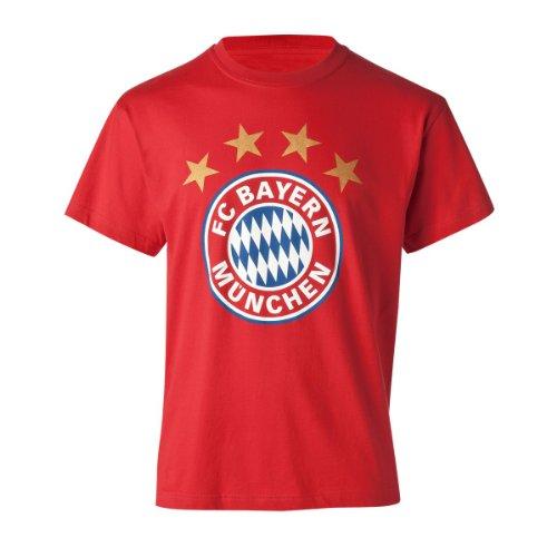 FC Bayern Múnich 15036 - Camiseta para niño, diseño de escudo FC Bayern Múnich, color rojo