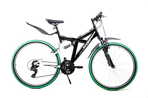 28 Zoll Fahrrad Mountain Bike Cross MTB Fully Fire Flash Shimano 21 Gang V-Brakes schwarz