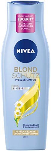 NIVEA Haar-Pflegeshampoo für natürlich blondes oder blondiertes Haar, 250 ml Flasche, Blond Schutz