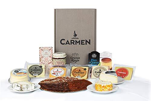 Lote PREMIUM con especialidades de queso de Granja Rinya, surtido de ibéricos, confitura y postres y chocolate gourmet