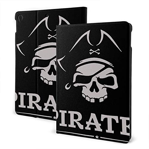 Compatible with Ipad 7th 10.2 Ipad Case Apple Generation Pirate Skull Screen Protector Mini Case 2020 Anti-Slip Full Protective Stand Cover Lightweight Fold Auto Wake/Sleep