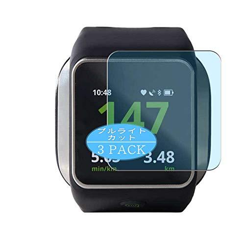 Vaxson 3 Stück Anti Blaulicht Schutzfolie, kompatibel mit Adidas MiCoach Smart Run smartwatch Smart Watch, Displayschutzfolie Bildschirmschutz [nicht Panzerglas] Anti Blue Light
