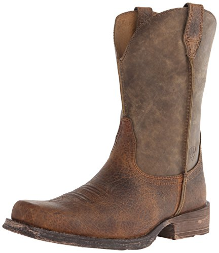 Ariat Men's Rambler Wide Square Toe Western Cowboy Boot, Earth/Brown Bomber, 9.5 EE US