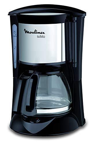 Moulinex FG1508 Kaffeemaschine Subito Mini | Anti-Tropf-System | Bis zu 6 Tassen | Einfache Reinigung | Edelstahl Matt