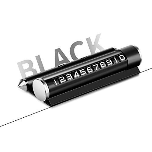 14 × 5,5 × 3 mm Multifunción Durable emergencia Martillo de seguridad - Resistencia a altas y bajas temperaturas Martillo de Seguridad - para brackets, señales de alto, ventanas rotas, etc black