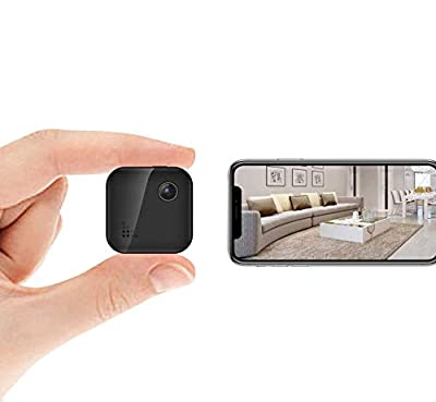 Spy Camera WiFi Wireless Home Security Camera Mini Hidden Camera Audio and Video Recording, Small House Camera Baby Monitor Nanny Cam, Remote Control on Phone App