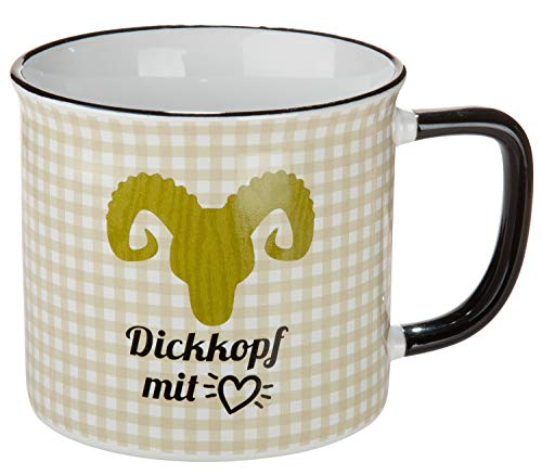 GILDE Keramik Tasse Dickkopf