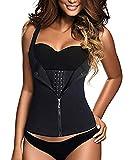 VRT® pack of 1 Shoulder Strap Waist Trainer Slimming Belt Vest Women Zipper Hook Body Shaper Waist Cincher Slimming Face Lift Tools (Women, Black)