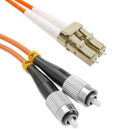 BeMatik - Cable de fibra óptica FC a LC multimodo duplex 62.5/125...