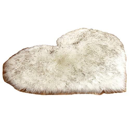 HotYou Alfombrilla de baño Rugs – Alfombra de Ducha Antideslizante Suave Microfibra Peach corazón Pad para baño Dormitorio Sala de Estar,Blanco Negro,70 * 90CM