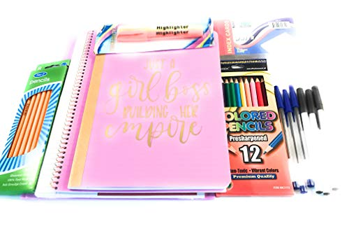 Just A Girl Boss Building Her Empire School Essential Notebook Tablet Ordner für Schule und Schule