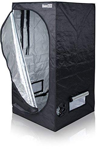 Growzelt Dark Box Serie Markenhersteller Growbox Growtent Grow verschied. Größen (80 x 80 x 160cm)