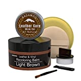 NADAMOO Light Brown Leather Recoloring Balm with...