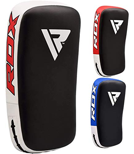 RDX Muay Thai Pad for Training, Curved Kickboxing Kicking Strike Shield, Coaching Kick Boxing, MMA, Martial Arts, Karate, Taekwondo, Punching, Foot, Knee and Elbow Target (1 Pcs Sold AS Single)