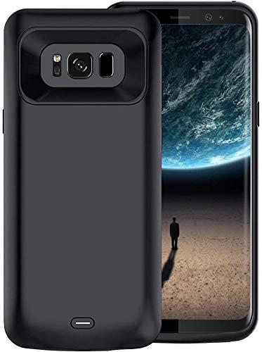Becho Akku-Schutzhülle für Samsung Galaxy S8, 5,000 mAh, schlankes und wiederaufladbarer Akku, 14,7 cm (5,8 Zoll), Schwarz