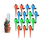 Sandman Crafts Plant Watering Spikes Self Watering Devices with Slow Release Control, 15 Pack/Set Automatic Plant Waterer Self Irrigation Drip Devices for Potted Bottles for Plants Flower Vegetables
