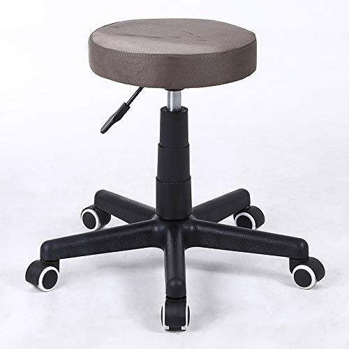 Barstools-BYTGK barkruk van nylon, 5 wielen met zitting van zachte tafel, bureaustoel, bureaustoel voor thuis met Office Cafe J1031
